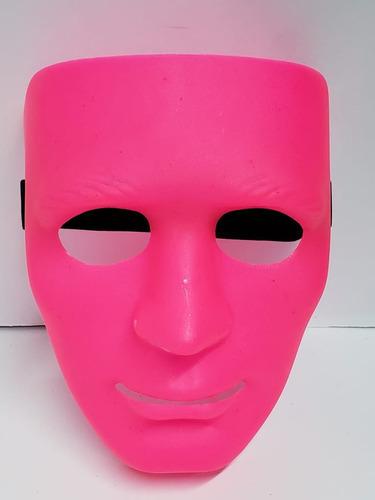 mascara neón careta plástica fluorescente hora loca