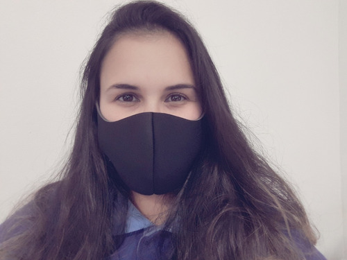 máscara neoprene 2mm respirável lavável proteção tam único