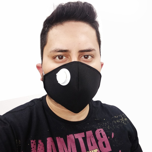 máscara neoprene 3mm válvula respirador n95 + regulador pvc