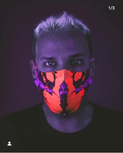 máscara neoprene hid saib laranja neon