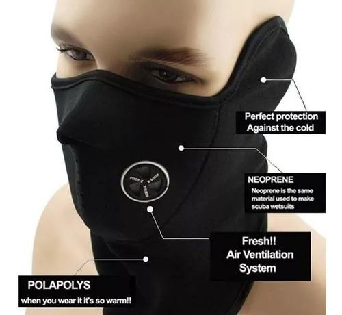 mascara neoprene polar respirador + primera piel - sti motos