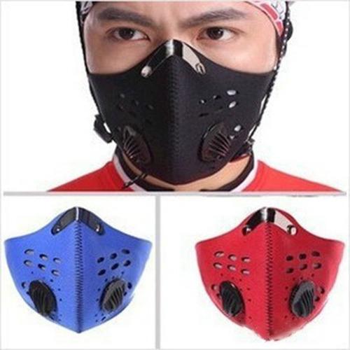 mascara neopreno doble filtro de carbón contra polvo/ceniza