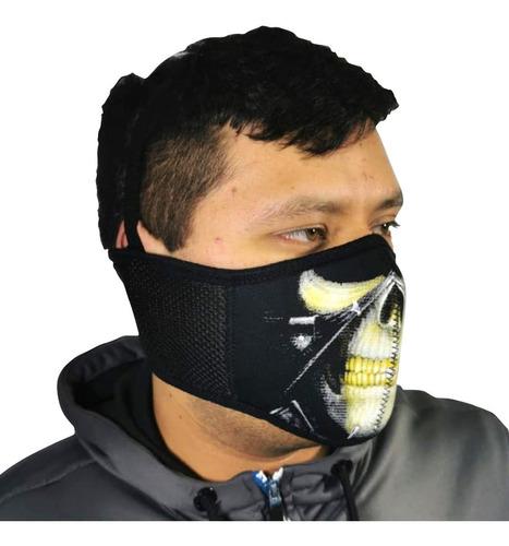 mascara neopreno lote 50 pz biker chopper jogging protección