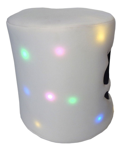 mascara niños luz led dj marshmello marshmallow casco blanco