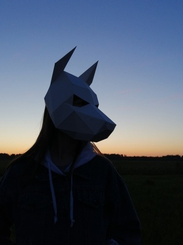 Mascara P Cosplay Cachorro Doberman Papercraft P Imprimir R 14