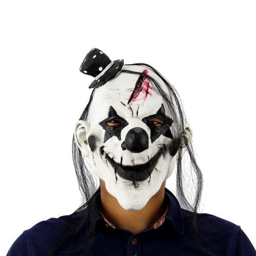 máscara palhaço assassino realista feito com latex