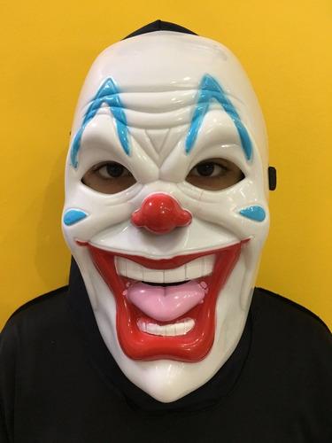 máscara palhaço do terror em plástico - halloween pânico