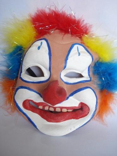 mascara palhaco latex festa fantasia haloween