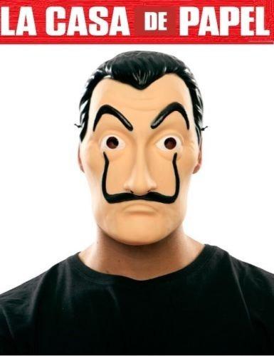máscara para adulto de salvador dalí de la casa de papel