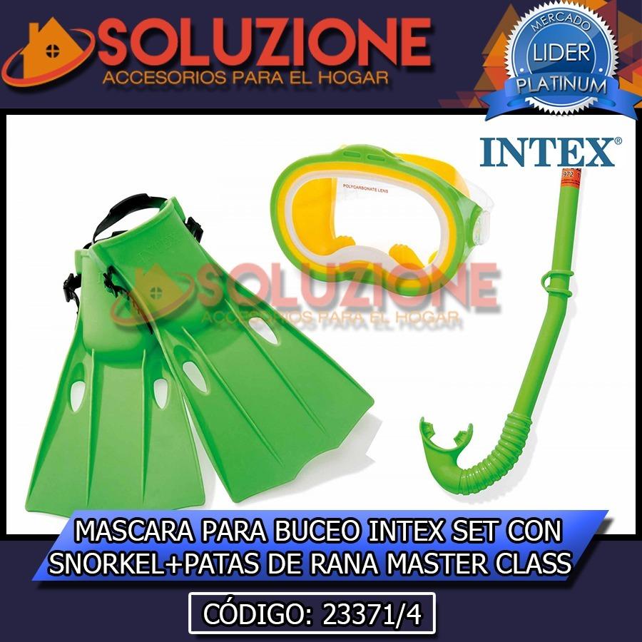 e306c40d6 mascara para buceo intex set con snorkel + patas rana class. Cargando zoom.