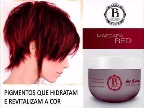 mascara para cabelos vermelhos/ruivos