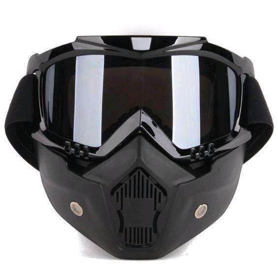 ac6dc088c0bfd Máscara Para Motociclista Com Oculos Fumê (não É Shark Raw) - R  124,99 em  Mercado Livre