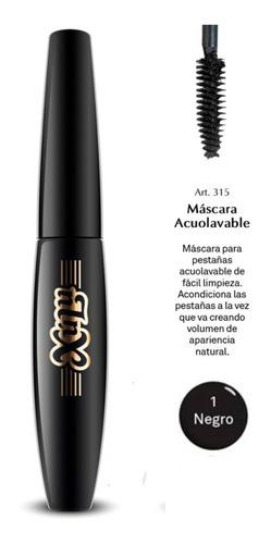 máscara para pestañas acuolavable xúlu cosméticos negro gel
