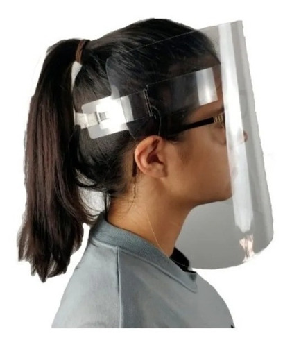 máscara para proteção facial tam. g -  lavável - face shield