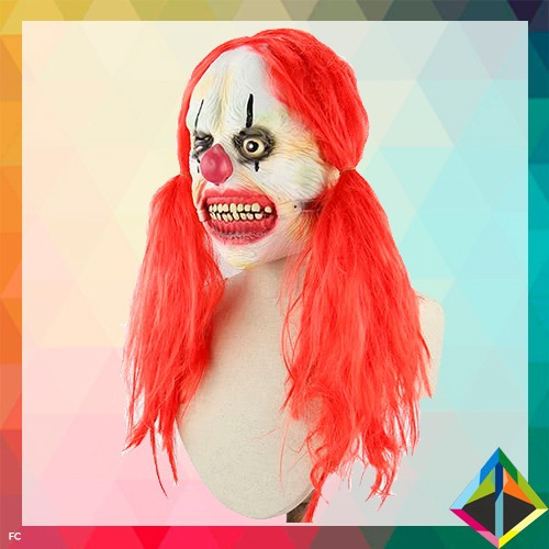 máscara payaso infernal demon clown 100% latex halloween