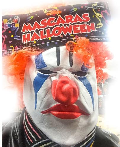 mascara payaso maldito latex 100% - oferta  la golosineria