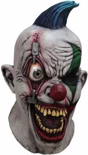 Mascara Payaso Ojo Movimiento Disfraz Halloween Terror Real - Mascaras-de-halloween-de-terror