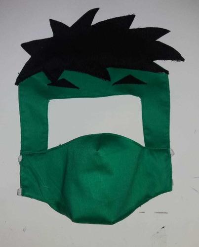 máscara p\criança de pano facial reutilizável - 2 camadas