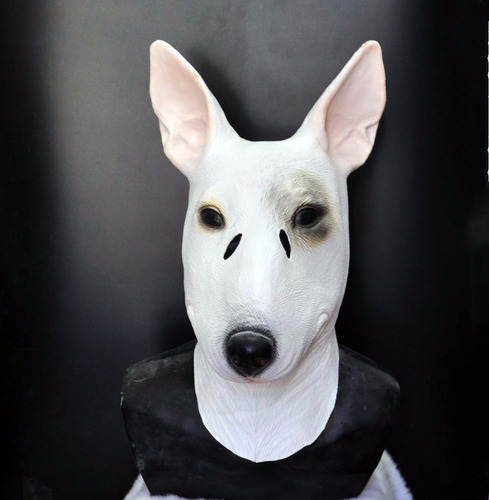 mascara perro bull terrier latex pug disfraces halloween