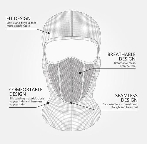 máscara pesca entrenamiento correr moto deporte gimnasio