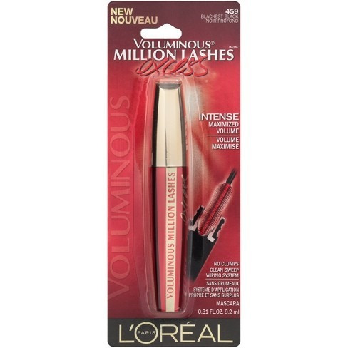 máscara pestañas loreal million lashes excess 459 blackest