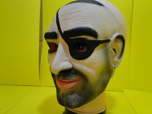mascara pirata tapa olho bandido careca barbudo latex adulto