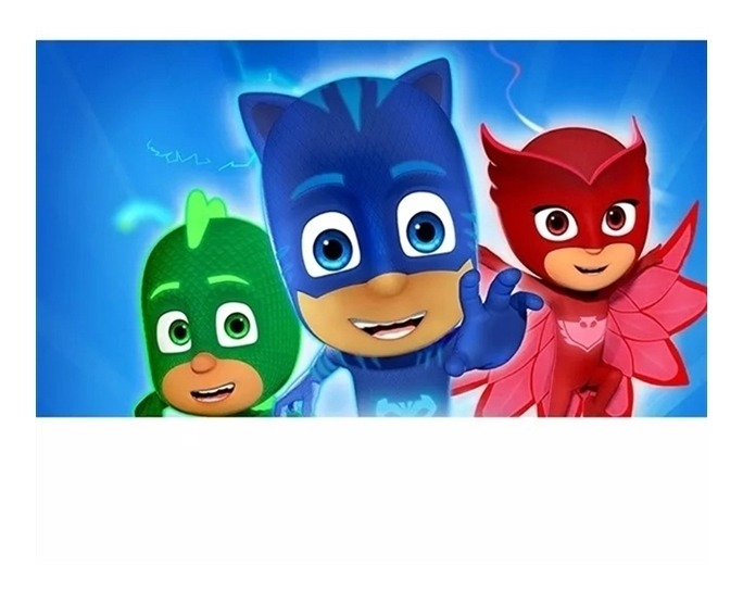 Mascara Pj Masks Infantil Menino Gato Corujita Lagartixo Nf R