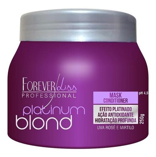 máscara platinum blond forever liss - 250gr - obeleza