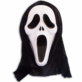 máscara pânico   fantasia halloween carnaval frete gratis