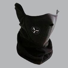 mascara polar con neopreno para moto anti frio negro