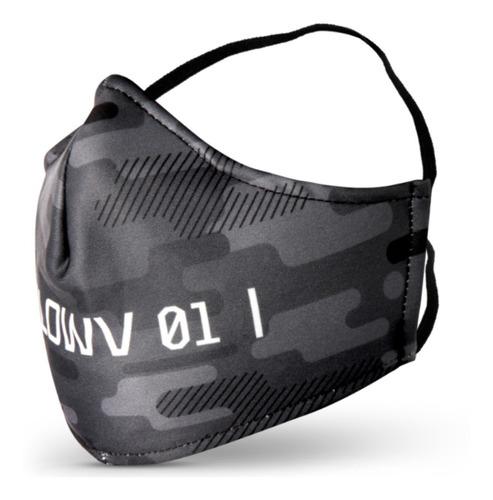 máscara proteção contra vírus 2 camadas escrita lowv frente