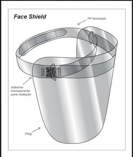 máscara proteção facial ante - respingo transparente