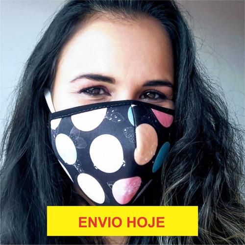 máscara proteção respiratória em isoflex contém 3 unidades