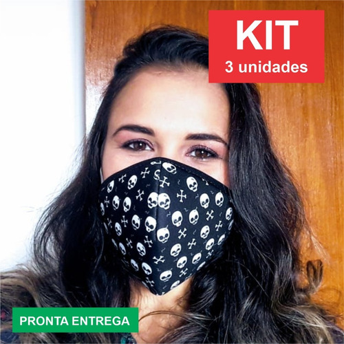 máscara proteção respiratória em isoflex contém 5 unidades
