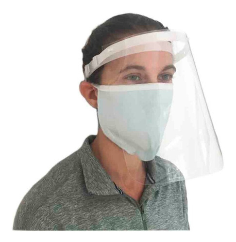 mascara protector facial + 10 barbijos mascarilla tapaboca