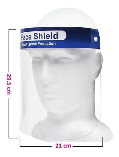 mascara protector facial  antifluidos antisalpicaduras