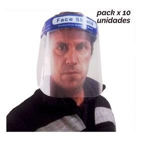 Mascara Protector Facial Barrera Sanitaria -pack X10unidades