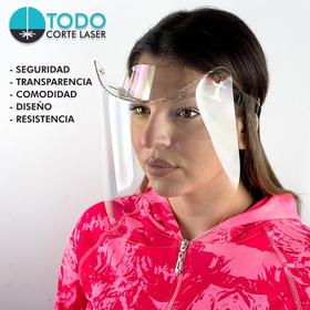 Máscara Protector Facial De Policarbonato 600 Micrones