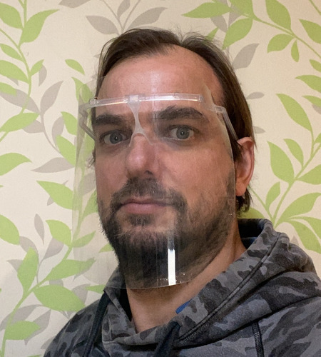 mascara protector facial ks maxima visibilidad x 10 unidades