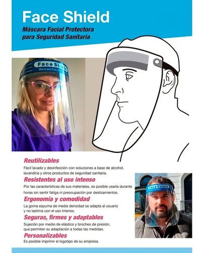 máscara protector facial reutilizable barrera sanitaria