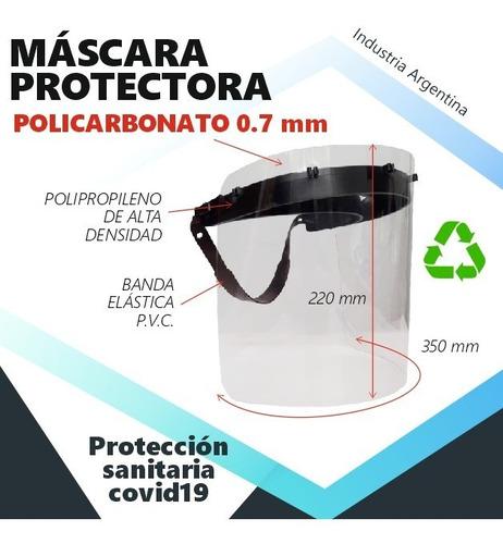 máscara protectora de policarbonato x1000 unidades