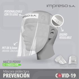 Mascara Protectora Facial Impresa Con Tu Logo