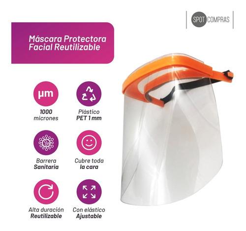 mascara protectora facial reutilizable pet 1mm