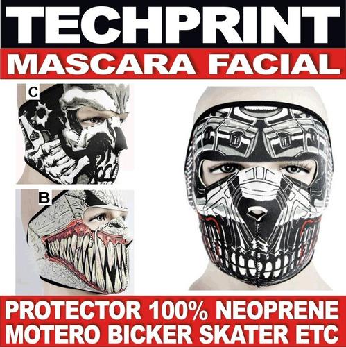 mascara protectora neoprene para moto bici skater call duty