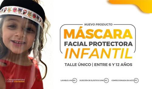 mascara protectora vincha niños proteccion facial infantil