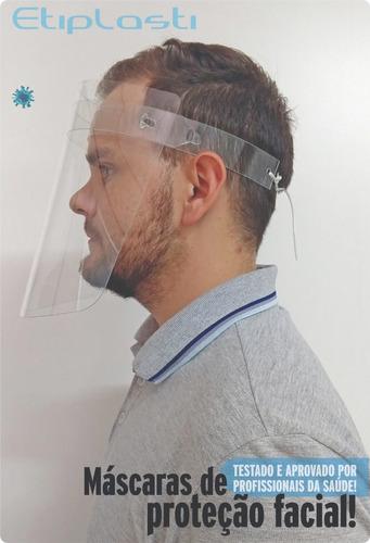 máscara - protetor facial - face shield - kit 20 pçs