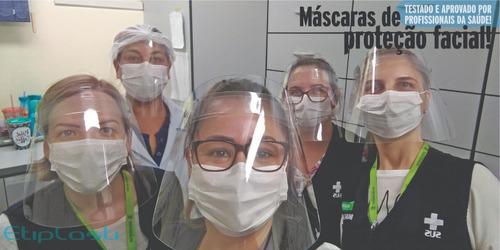 máscara - protetor facial - face shield - kit 50 pçs