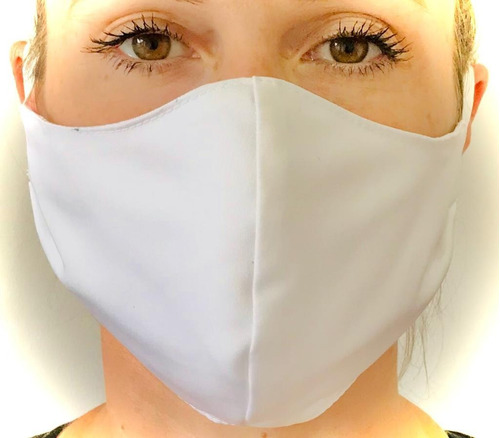 máscara protetora anatômica branca - kit com 20