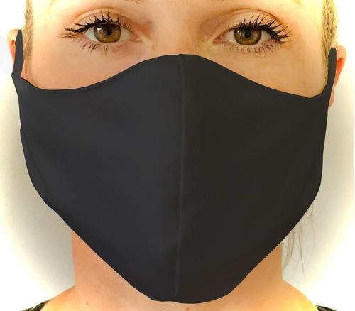 máscara protetora anatômica preta - kit com 20