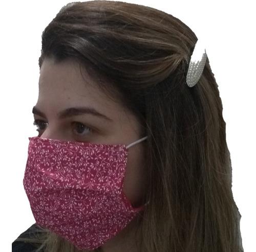 máscara protetora tecido 100% algodao dupla face kit 3un